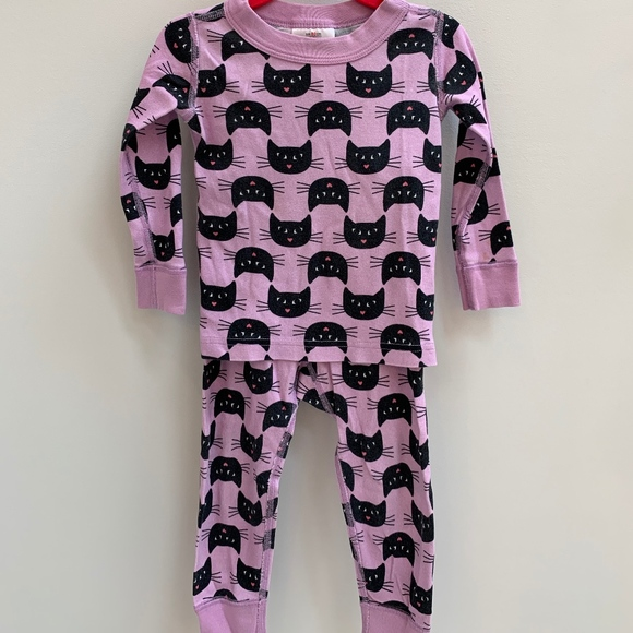 Hanna Andersson 90 3 Girls Pajamas Short John Organic Cotton NEW Purple Rainbow